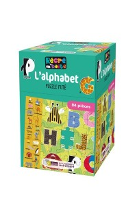 RECRE EN'BOITE L'ALPHABET - PUZZLE FUTE 84 PIECES DES 4 ANS