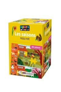 RECRE EN'BOITE PUZZLE FUTE LES SAISONS 84 PIECES DES 4 ANS